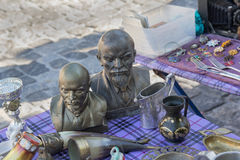 Kiev, Ukraine - August 27, 2016: Bust of Lenin on sale at a flea marke Stock Photo