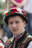 Kiev, Ukraine - August 24, 2013 Celebration of Independence day, handsome young man Royalty Free Stock Image