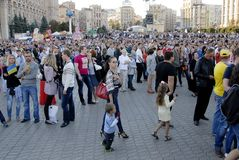 KIEV, UKRAINE - 24 AUGUST 2013 - Indipendence day Royalty Free Stock Image