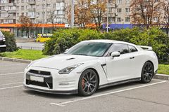 Kiev, Ukraine - August 24, 2017: Nissan GTR R35, japanese supercar in the Ukrainian city royalty free stock images
