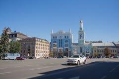 Kiev, Ukraine - August 27, 2016: View of the Kontraktova Square Stock Photography