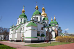 Kiev, Ukraine, cathédrale de rue Sophia photos stock