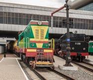 KIEV, UKRAINE : Dérivateur ChME2 diesel dans le musée de Kiev du historica Photographie stock