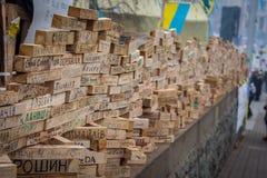kiev ukraine 19 december, 2013 Centrale straat van het stadsverstand royalty-vrije stock afbeeldingen