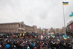 KIEV, UKRAINE - DECEMBER 1: Pro-Europe protest in Kiev Royalty Free Stock Photos