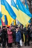KIEV, UKRAINE - DECEMBER 1: Pro-Europe protest in Kiev Royalty Free Stock Image
