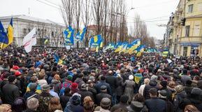 KIEV, UKRAINE - DECEMBER 1: Pro-Europe protest in Kiev Royalty Free Stock Images