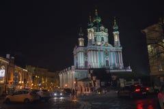 Kiev, Ukraine - December 28, 2018: St. Andrew`s Church in Kiev stock photo