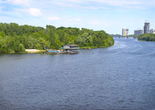 Kiev, Ukraine. Dnepr River. River of the Dnieper in the city of Kiev stock photos