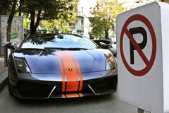 Kiev, Ukraine - 1er juillet 2012 ; Lamborghini Gallardo LP560-4 photo stock