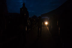 KIEV, UKRAINE - 20 février 2014 : Euromaidan nuit au 20 février Photos libres de droits