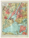 Vintage map of New York stock photography