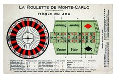 French style Roulette table layout Stock Images