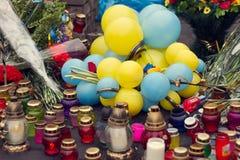 Kiev, Ukraine, February: flowers, lamps Royalty Free Stock Image