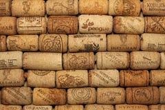 KIEV, UKRAINE - FEBRUARY 18 : Wine corks editorial background with drops of wine on February 18, 2017 in Kiev, Ukraine Royalty Free Stock Photo