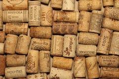 KIEV, UKRAINE - FEBRUARY 18 : Wine corks editorial background with drops of wine on February 18, 2017 in Kiev, Ukraine Stock Photography