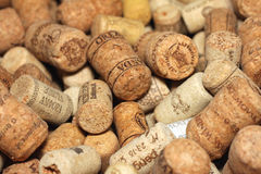 KIEV, UKRAINE - FEBRUARY 18 : Wine corks editorial background with drops of wine on February 18, 2017 in Kiev, Ukraine Royalty Free Stock Images