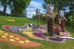 KIEV, UKRAINE-Flower Show Landscape Park in Kiev. The compositio Royalty Free Stock Photos