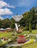 KIEV, UKRAINE-Flower Show Landscape Park in Kiev. Composition Da Stock Photography