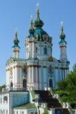 Kiev, Ukraine - église de rue Andrew Images libres de droits
