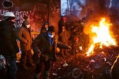 KIEV, UKRAINE - January 26, 2014: Euromaidan prote Royalty Free Stock Photo