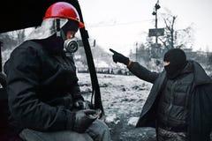 KIEV, UKRAINE - January 26, 2014: Euromaidan prote Royalty Free Stock Image