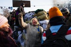 KIEV, UKRAINE - January 26, 2014: Mass anti-government protests Stock Photos