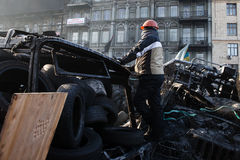 KIEV, UKRAINE - January 26, 2014: Mass anti-government protests Stock Image