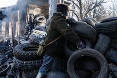 KIEV, UKRAINE - January 26, 2014: Mass anti-government protests Stock Photo