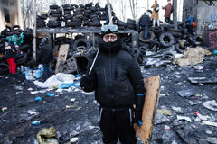 KIEV, UKRAINE - January 26, 2014: Mass anti-government protests Royalty Free Stock Photo