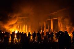 KIEV, UKRAINE - January 24, 2014: Mass anti-government protests Royalty Free Stock Image