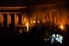 KIEV, UKRAINE - January 24, 2014: Mass anti-government protests Stock Photography
