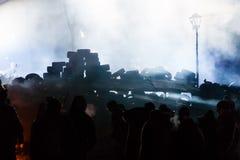 KIEV, UKRAINE - January 24, 2014: Mass anti-government protests Royalty Free Stock Photography