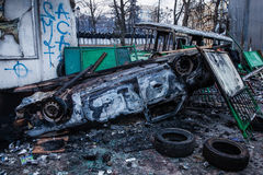 KIEV, UKRAINE - January 20, 2014: The morning after the violent Stock Photo