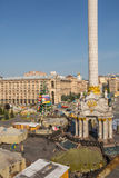 KIEV, UKRAINE 24 JUILLET : Maidan Nezaleznosti 24, 2014 à Kiev, U Photo stock