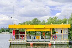 Kiev. Ukraine. July 2017: - Filling station for small boats. royalty free stock images