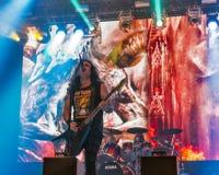 Kreator performs live at Atlas Weekend Festival in Kiev, Ukraine royalty free stock photography