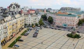 Building in Sophia Square, Kiev, Ukraine. KIEV, UKRAINE - JULY 13, 2018: Historic building in Sophia Square, Kiev stock image