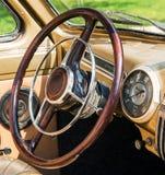 Kiev, Ukraine- July 16, 2016: Kiev, Ukraine- July 16, 2016:Wheel of retro car Royalty Free Stock Photos