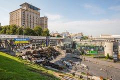 KIEV UKRAINE-JULY 24: Maidan Nezaleznosti 24, 2014 i Kiev, U Royaltyfri Bild