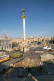 KIEV UKRAINE-JULY 24: Maidan Nezaleznosti 24, 2014 i Kiev, U Royaltyfri Foto