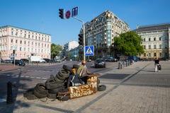 KIEV, UKRAINE-JULY 24:  Maidan Nezaleznosti 24, 2014 in Kiev, U Royalty Free Stock Photos