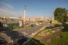 KIEV, UKRAINE-JULY 24:  Maidan Nezaleznosti 24, 2014 in Kiev, U Stock Images
