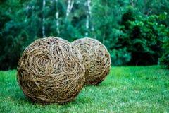 KIEV, UKRAINE - JUN 02: sculpture 'Grand Spheres', artist Rachel royalty free stock image