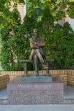 Kiev, Ukraine - June 04, 2016: Monument to the famous writer Mikhail Bulgakov. In the Andreevsky Descent Stock Images