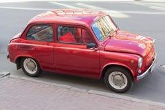 Kiev, Ukraine - June 12, 2016: Retro Soviet-made car ZAZ parked on the street royalty free stock photography