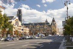 Kiev,Ukraine. Khreshchatyk street scenic, Kiev, Ukraine Royalty Free Stock Images