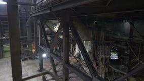Kiev, Ukraine ? l'int?rieur de la vue de l'usine de production combin?e de chaleur et d'?lectricit? banque de vidéos