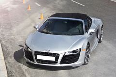 Kiev, Ukraine ; Le 10 avril 2015 Audi R8 v10 images stock
