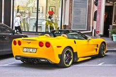 Kiev, Ukraine ; Le 3 avril 2014 ; Convertible de Chevrolet Corvette images stock